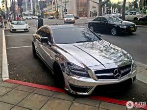 Mercedes Chrome Eyecatching Chrome Mercedes Cls 63 Amg