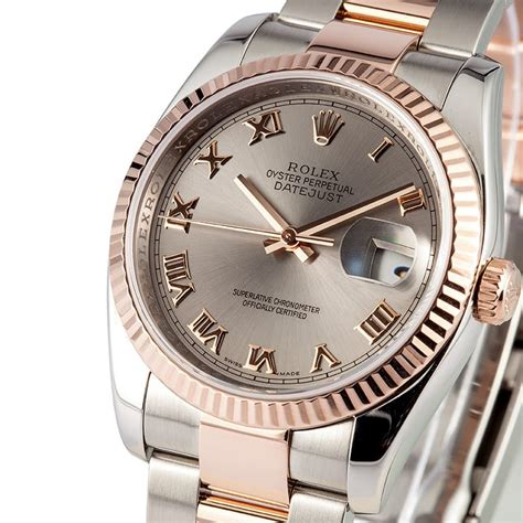 Rolex Datejust Combi Rosegold gold rolex datejust 116231 save on authentic watches