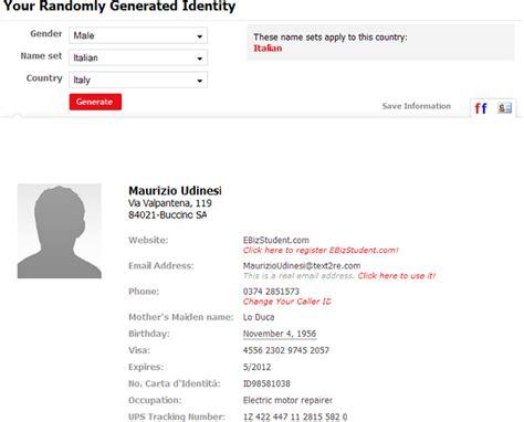 generate a random name fake name generator social bookmark archives tip and tricks di computer