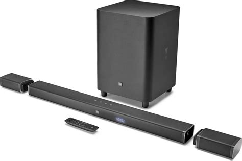 jbl bar 5 1 powered home theater sound bar with wireless