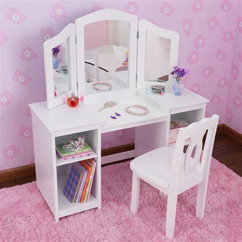 Kidkraft Deluxe Vanity Table With Chair White Divas