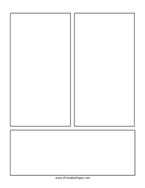 Printable Comic Page With Vertical Bars Comic Book Page Template