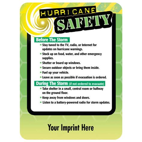 hurricane safety magnet personalization  positive promotions