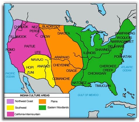 american cultures map american cultures were influenced by their