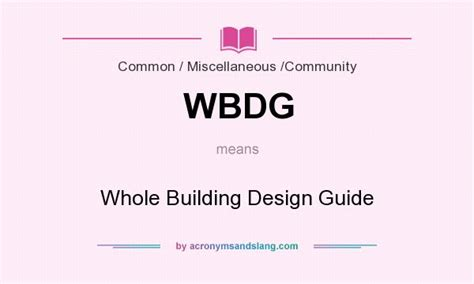 design lead meaning wbdg whole building design guide in common