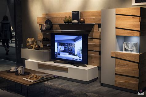 unit tv tastefully space savvy 25 living room tv units that wow