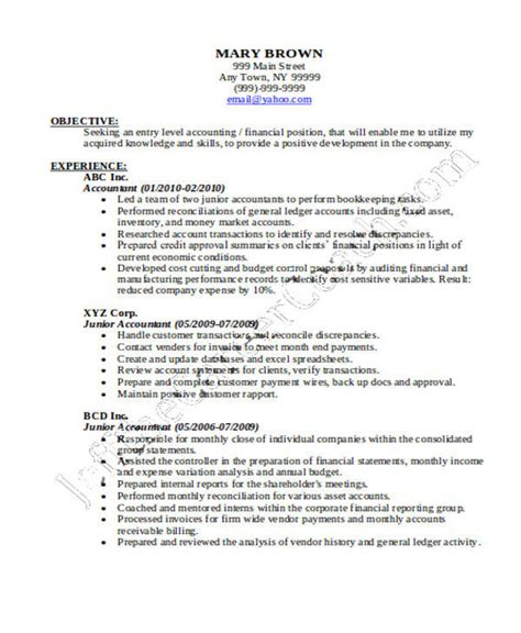 accountant resume format pdf 32 accountant resume sles sle templates