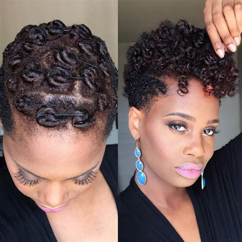 natural hair pinup hairdos pin curls on tapered natural hair