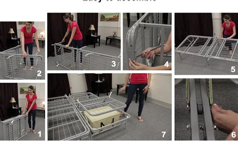bed frame assembly how to assemble metal bed frame universal easy to