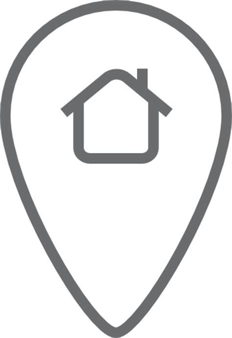 haus icon pin lage haus symbol kostenlos outline icons