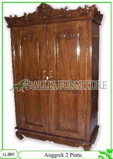 Lemari Pakaian Pintu 3 Sleding Motif Bunga Kayu Jati lemari pakaian klender anggrek 2 pintu allia furniture