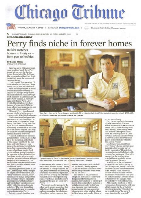 press awards a perry homes