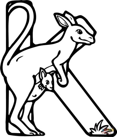 k kangaroo coloring page letter k is for kangaroo coloring page free printable