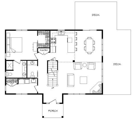 open floor plans with a view one story open floor plans