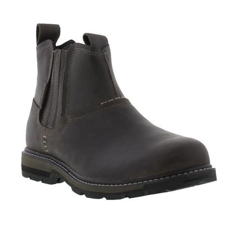 skechers blaine orsen mens boots skechers blaine orsen mens grey leather chelsea boots size