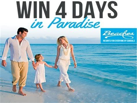 Vacation A Day Giveaway - www beaches com sweepstakes win a 4 day luxury vacation to a sandals or beaches