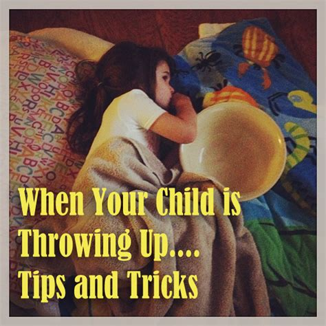 throwing up tips for when children are throwing up clumsy crafter