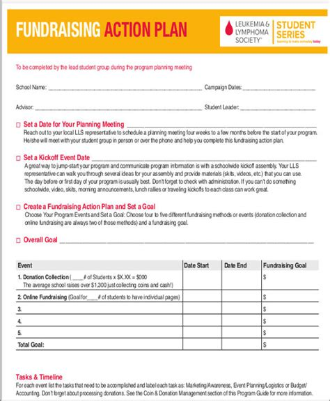 7 event action plan templates 7 free word pdf format