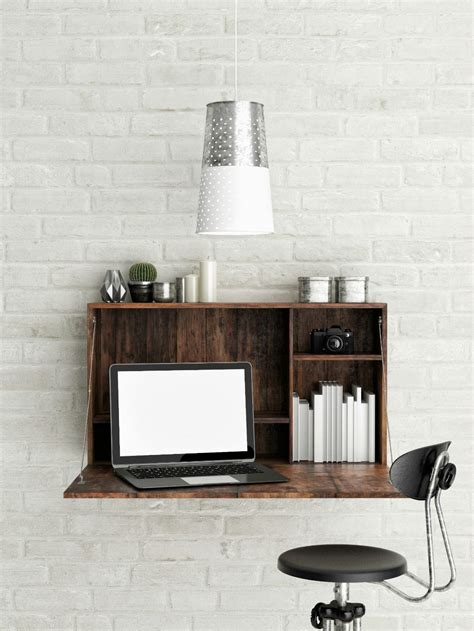wall mounted office desk wall mounted desks and other space savers via brit co