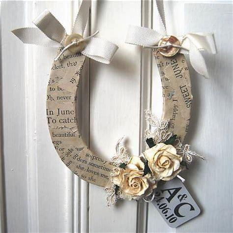 Handmade Wedding Horseshoes - wedding luck horseshoe by halliday