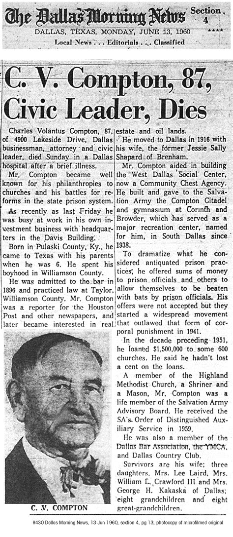 Roanoke Times Obituary Section by Rainwater Genealogy Source Documents