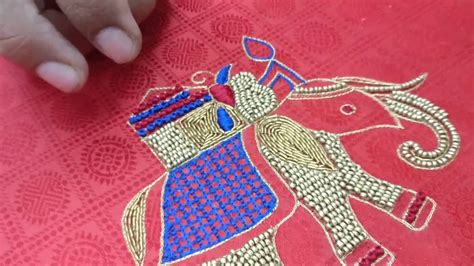 design works embroidery software elephant design embroidery for blouse youtube