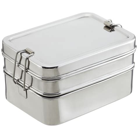 Eco Lunch Box Stainless Steel Rantang 1 Susun 2 ecolunchbox stainless steel rectangular 3 in 1 lunch box the container store