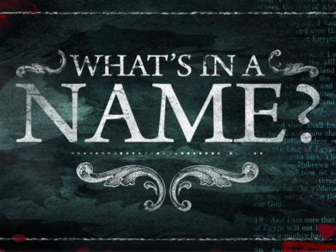 a named what s in a name steph robbins ministries