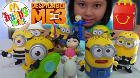 Happy Meal Despicable Me3 2017 mcdonald s happy meal despicable me 3 toys complete set
