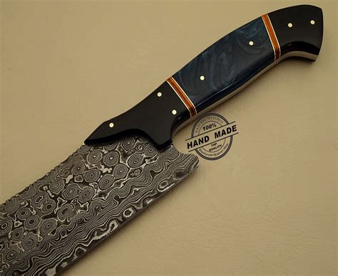 handcrafted kitchen knives damascus kitchen knife custom handmade damascus steel kitchen