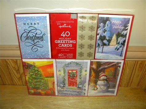 Box Birthday Cards From Hallmark New Box Of 40 Hallmark Christmas Cards Assorted Cards With