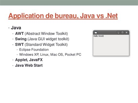 java swing vs java vs net