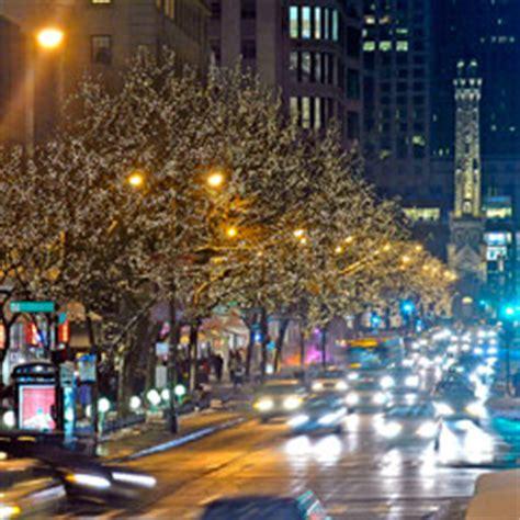 Chicago Trolley Double Decker Co Tour Details Michigan Avenue Lights