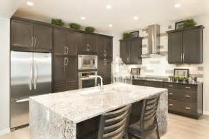 Granite waterfall kitchen island pin from jayman com show home