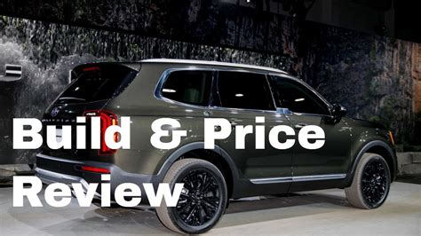 2020 kia telluride build and price 2020 kia telluride ex awd suv build price review