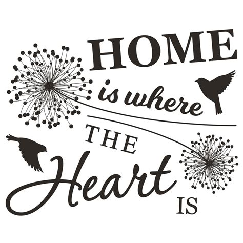 wilko wall stickers home is where the heart is at wilko com
