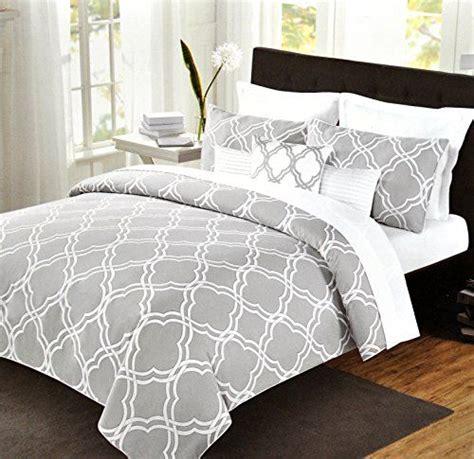 quatrefoil bedding max studio modern geometric quatrefoil trellis pattern queen size 3pc duvet cover set