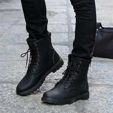 retro combat boots winter style fashionable s
