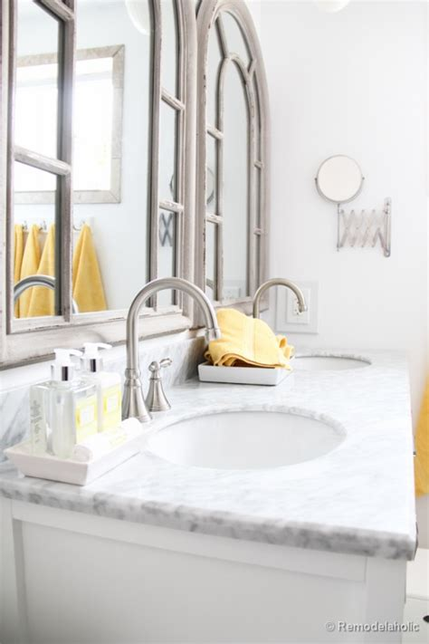 Double Sink Bathroom Vanity Ideas remodelaholic updated bathroom single sink vanity to