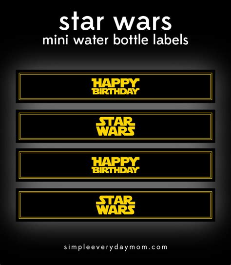printable star wars drink labels free star wars party printables a no stress way to a