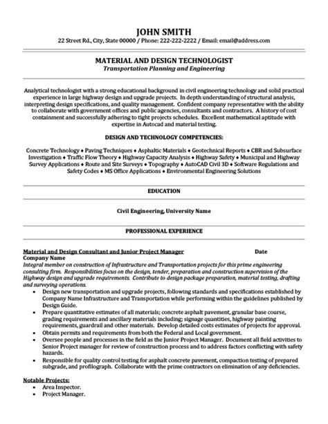 material  design technologist resume template premium resume samples