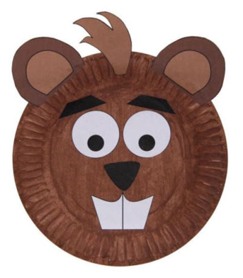 paper plate mask template paper plate beaver craft