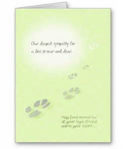 Dog sympathy cards pet sympathy card for a loss so near and dear