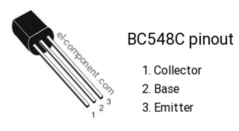 bc548c n p n transistor complementary pnp replacement pinout pin configuration substitute