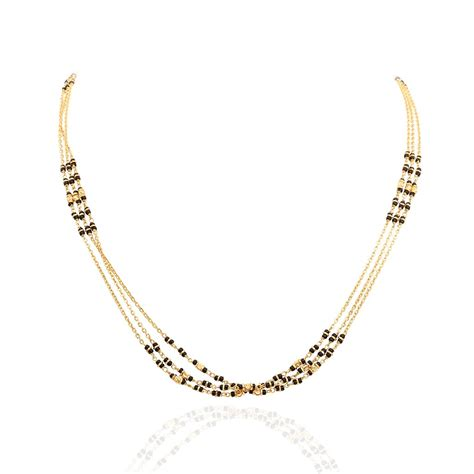 designs of black bead chains chains three row black gold chain grt jewellers