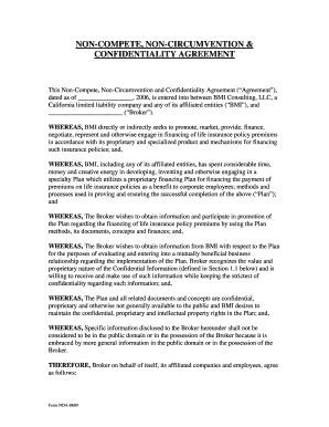 non circumvent agreement template sle noncompete agreements forms and templates