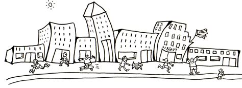city background coloring page city images clipart 63