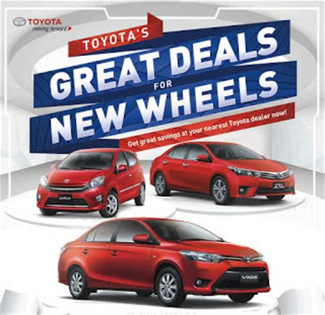 Toyota New Offers Toyota Motor Philippines Is Offering Great Deals On Wigo