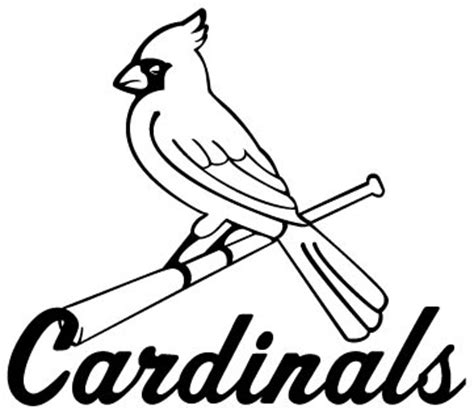 st louis cardinals baseball coloring sheets pictures to