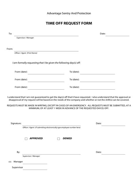 5 employee vacation request form for free download